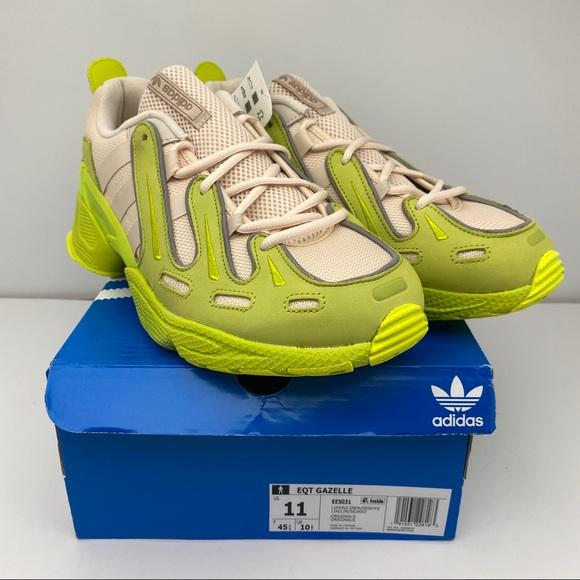 NEW Adidas EQT Gazelle Green/Linen Men's 11